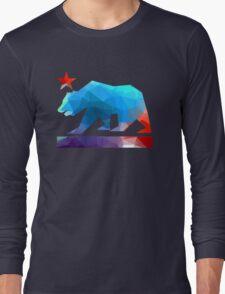 California State Flag Bear (fractal angles) Long Sleeve T-Shirt