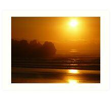Sunset at Punakaiki, South Island. NZ Art Print