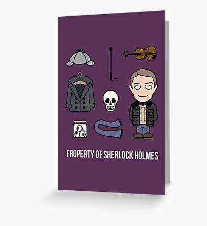 Property of Sherlock Holmes (card/notebook) Greeting Card