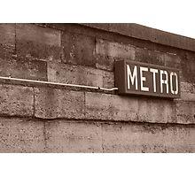 retro metro Photographic Print