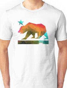 California State Flag Bear (fractal angles) Unisex T-Shirt
