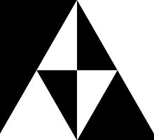 Monochrome Triforce by August Designs