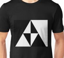 Monochrome Triforce Unisex T-Shirt