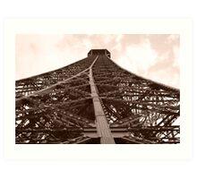 perspective - eiffel tower Art Print