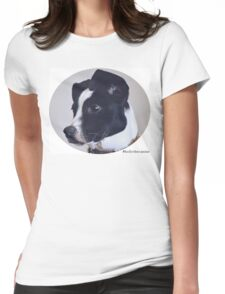 Holly the canine portrait Womens Fitted T-Shirt