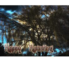 Happy Haunting Card Photographic Print