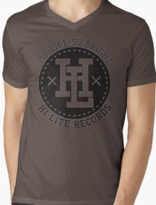 HI-LITE RECORDS Mens V-Neck T-Shirt