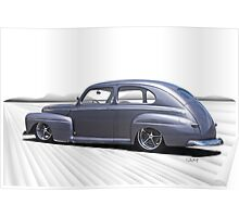 1947 Ford Deluxe Sedan 'In Perspective' Poster