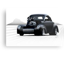 1941 Willys Coupe 'Dry Lake Competition' Metal Print