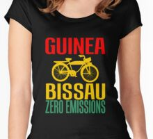 Guinea Bissau-Zero Emissions Women's Fitted Scoop T-Shirt