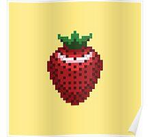 8-bit Strawberry Poster