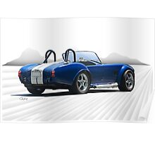 1966 Shelby Cobra Replica 'The Road Ahead' Poster