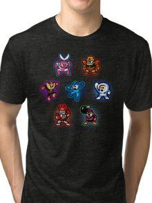 Megaman 1 Robots Tri-blend T-Shirt