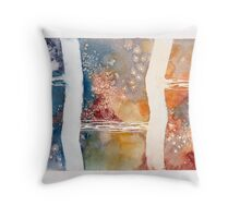 Beneath the Antiguan Sea Throw Pillow