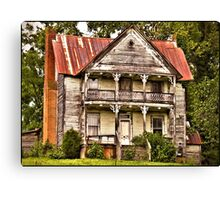 """ This is no Prefab Structure, Built the Old Fashioned Way""... prints and products Canvas Print"