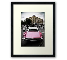 Candy Pink Cadillac Framed Print