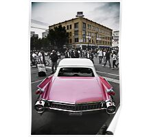 Candy Pink Cadillac Poster