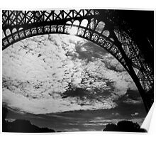 Eiffel Skyscape Poster