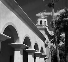 St. Augustine Cathedral - Black & White by Lucinda Walter