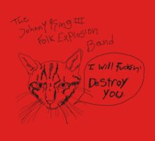 The Johnny King III Folk Explosion Band - cat shirt by John King III