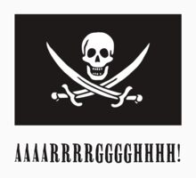 Jolly Roger Pirate Flag with AAARRRGGGHHH by Greenbaby