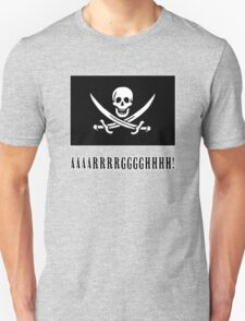 Jolly Roger Pirate Flag with AAARRRGGGHHH T-Shirt