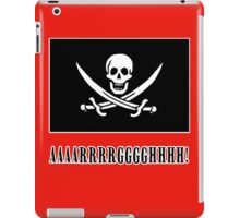 Jolly Roger Pirate Flag with AAARRRGGGHHH iPad Case/Skin