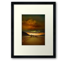 Sunday Storm Clouds Framed Print