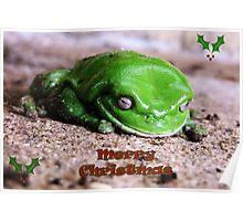 Freddo Frog Christmas greeting Poster
