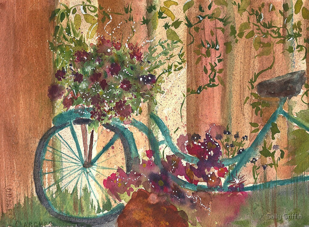 Bike and Ivy by Sally Griffin