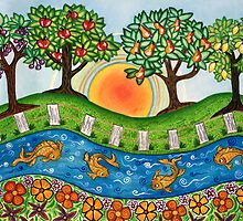 """Sunrise At The Orchard""  by Lisa Frances Judd~QuirkyHappyArt"