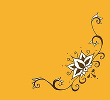 Climbing Lotus on Saffron by ArtByDrax