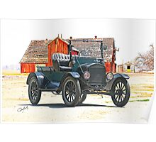Ford Model T Antique Pickup Truck Poster