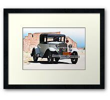 1930 Ford Model A 'Police Patrol' Coupe Framed Print