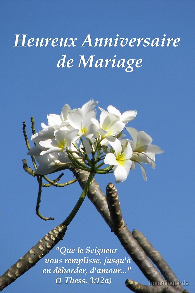 Anniversaire de Mariage (1 Thess. 3:12a) by hummingbirds