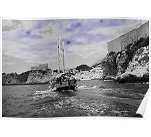 Blue Dubrovnik Poster