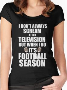 IT'S FOOTBALL SEASON Women's Fitted Scoop T-Shirt
