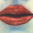 Watercolor - Mermaid Lips by artymelanie