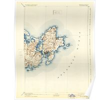 Massachusetts  USGS Historical Topo Map MA Gloucester 352708 1893 62500 Poster