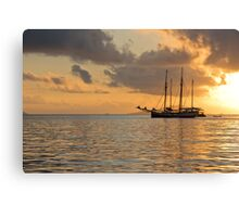 Recreational Yacht at the Indian Ocean Canvas Print