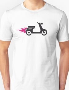 Rock'n'Roller   Scooter on fire Unisex T-Shirt