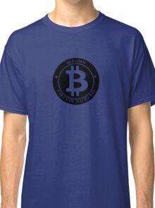 Bitcoin Black Classic T-Shirt