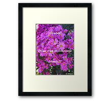 Flowers For Breast Cancer Awareness ! Framed Print