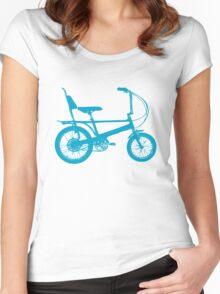 Blue Chopper Silhouette Women's Fitted Scoop T-Shirt