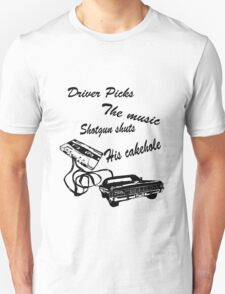 Supernatural, driver picks the music Unisex T-Shirt