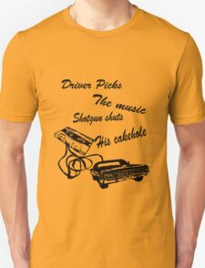 Supernatural, driver picks the music T-Shirt