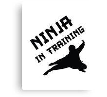Ninja In Training Canvas Print