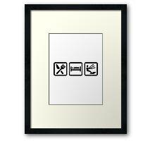 Eat sleep Kitesurfing Framed Print