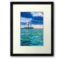 Recreational Yacht at the Indian Ocean Framed Print