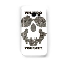Watchmen - Rorschach Typography  Samsung Galaxy Case/Skin
